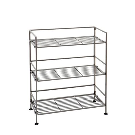 Steel Bookcase by Seville Classics Stain Pewter Steel Bookcase She04117b
