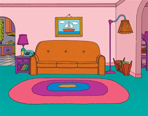 Living Room Clipart Cartoon  Pencil And In Color Living