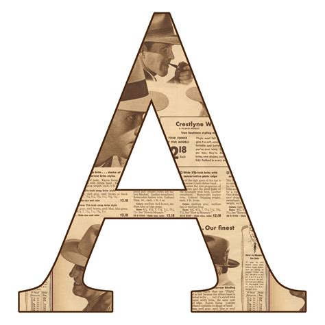 letter a png enchanted s free newsprint digi scrapbook 37457