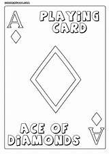 Playing Cards Coloring Pages Playingcards sketch template