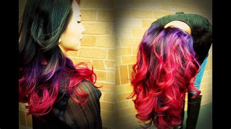 Best Ombre Tutorial On Youtube Andand Purple To Pink Ombre
