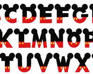 18 Mickey Mouse Font Alphabet Images - Mickey Mouse