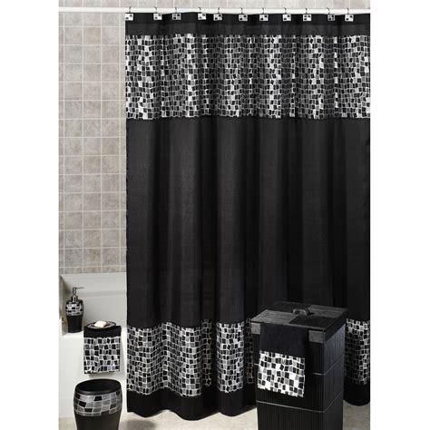 get beautifully designed black shower curtain for your