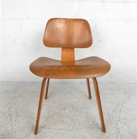 mid century modern charles eames wood lounge chair for