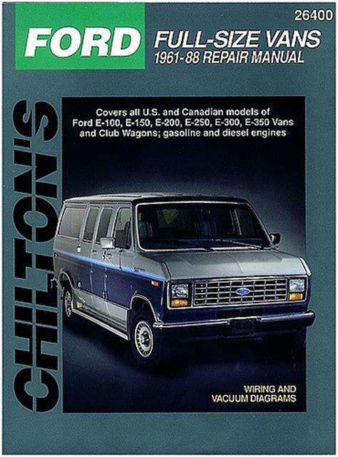 ford econoline van repair manual by chilton 1989 1996 ford vans chilton repair manual 1961 1988 hay26400