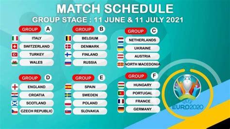 Euro 2021 Live from 11 June, Schedule & PDF 2020 Fixtures ...