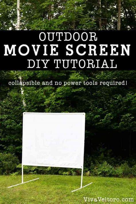 diy outdoor  screen tutorial