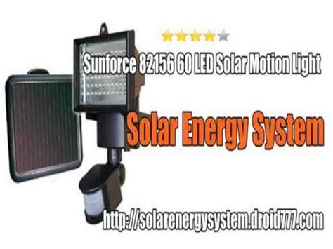 solar nenegy sistem sunforce 82156 60 led solar motion