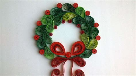 christmas items you tube wreaths how to make a beautiful quilled wreath diy crafts tutorial guidecentral