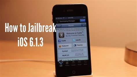 how to jailbreak an iphone 6 how to jailbreak and install cydia on ios 6 1 3 iphone