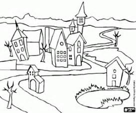 HD wallpapers coloring pages of houses and buildings