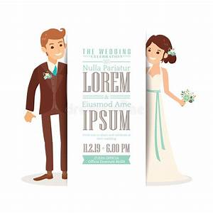 wedding couple groom and bride on white background With caricature wedding invitations online free