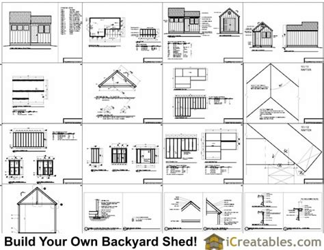 6 x 8 wooden shed plans 10x8 6x8 garden shed plans