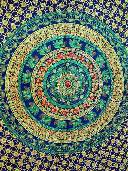 indian tapestries trippy psychedelic tapestry wall hanging