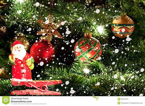 photo of santa claus and christmas tree tree and santa claus stock image image 35213545