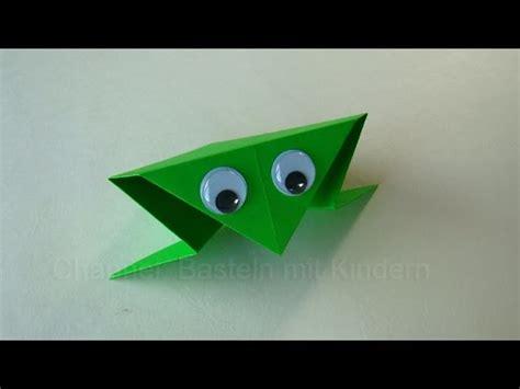 origami frosch falten basteln mit kindern papier falten