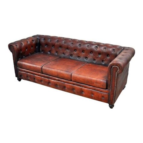 Aged Leather Sofa by Chesterfield Aged Leather 3 Seater Sofa