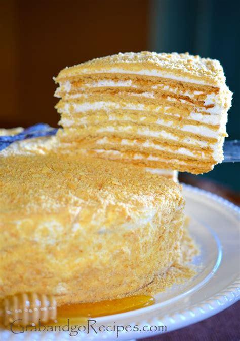 slightly  approach   medovik russian honey cake