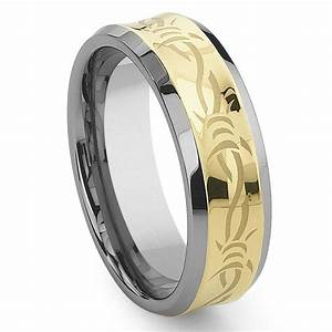 concave gold barb wire tungsten carbide wedding band ring With barb wire wedding rings