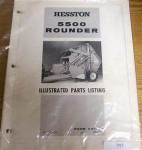 Hesston 5500 Rounder Baler Parts Catalog Manual