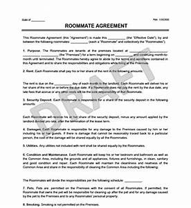 roommate agreement template free - roommate agreement contract create download a free
