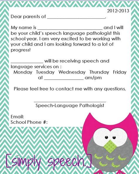 c letter templates from parents 354 best slp parent information images on