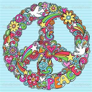 hippie love peace sign emages | depositphotos_8680679 ...