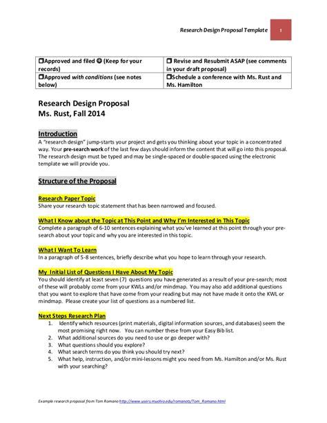 research design proposal template october   final