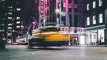 Street Night Blur Widescreen Movement 4k Background
