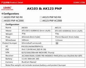 Ldarc Ak103 Ak123 Quadcopters