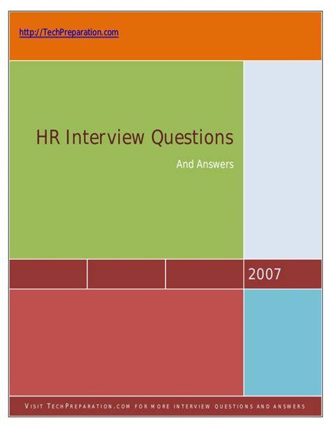 hr questions techpreparation