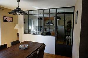 verriere d39interieur pour la cuisine avec porte With porte de garage avec porte intérieure style atelier