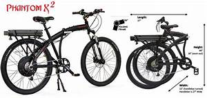 Prodecotech Phantom X2 V5 26 Folding Electric Bicycle  Black At Intheholegolf Com
