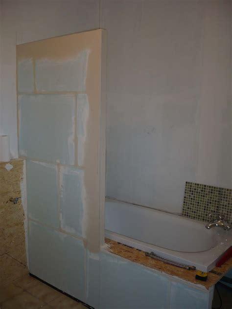 meuble de salle de bain en carreaux de platre