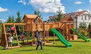 Aire De Jeux En Bois Pour Particulier : grande aire de jeux de jardin pour enfants en bois massif ~ Dailycaller-alerts.com Idées de Décoration