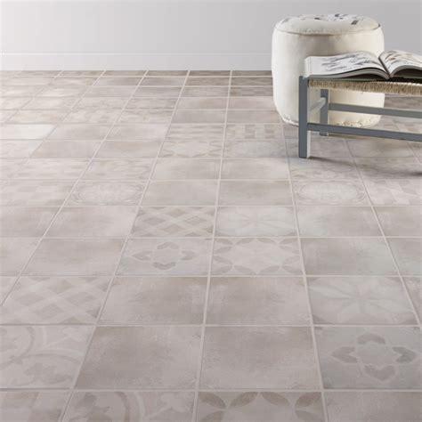 cuisine style bistro carrelage sol et mur gris effet ciment bistro l 20 x l 20 cm leroy merlin