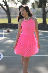 Lace Pink Neon Asos Dresses Pearls Forever21 Necklaces