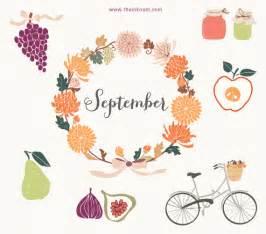 September Month Clip Art