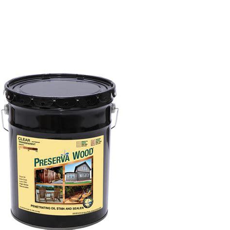 preserva wood  gal clear penetrating oil based exterior