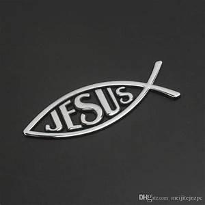 Queue De Poisson Voiture : acheter personnalit de la voiture m tal forme de poisson j sus logo j sus christian j sus ~ Maxctalentgroup.com Avis de Voitures