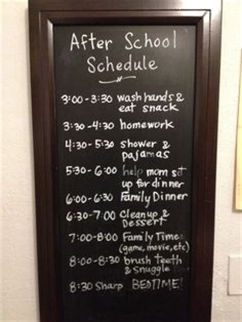 Back To Tip The After Schedule Board