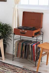 Vinyl Record Storage Shelf Vintage records, Retro record