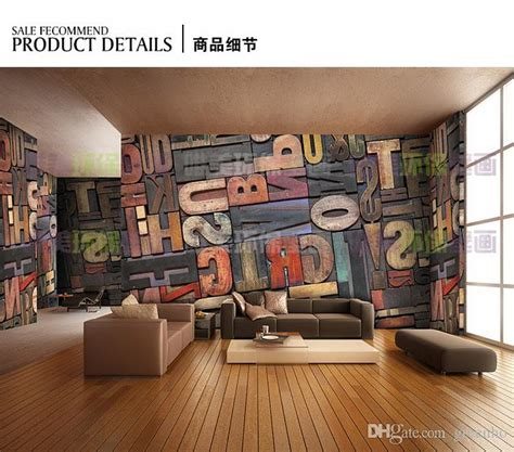 giant photo wallpaper letter number wall mural