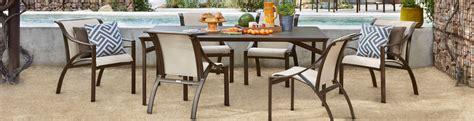 brown pasadena sling patio side table