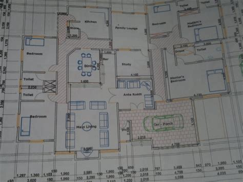 bedroom bungalow house plans  nigeria modern house
