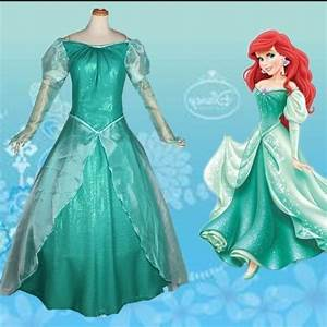 the little mermaid ariel princess dress cosplay adult ...