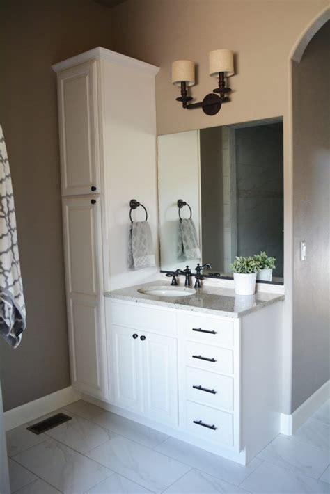 double vanity with linen cabinet bathroom vanity with attached linen cabinet bath rugs