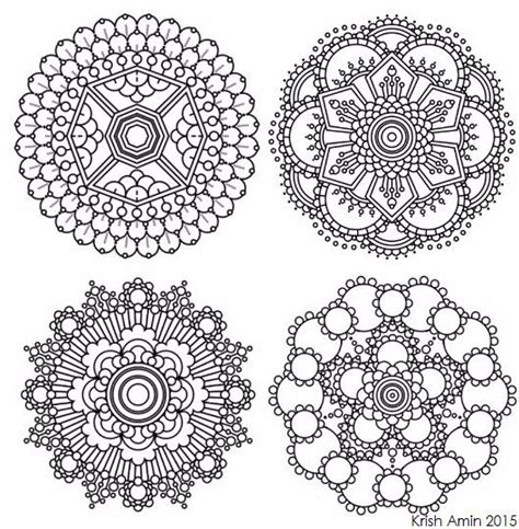 8 mini intricate mandala coloring pages adult by
