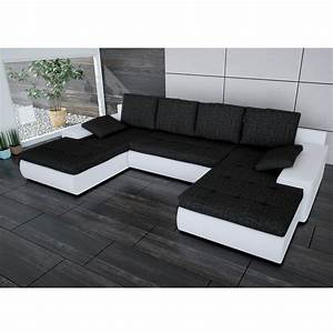 Couch U Form Modern : sofa linosa wei schwarz ecksofa von jalano wohnlandschaft u form schlaf couch ebay ~ Bigdaddyawards.com Haus und Dekorationen