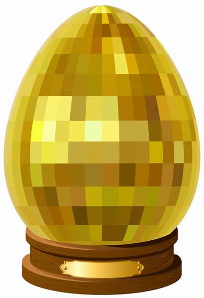 Egg Transparent Golden Statue Clipart Eggs Clip